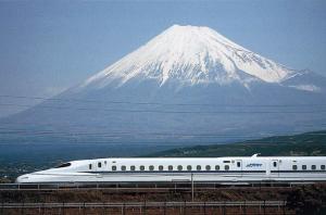 Vulkaan Fuji en buiten Tokyo met de 'bullet train'